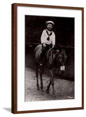 H.R.H. Prince John of the United Kingdom, Donkeyride--Framed Giclee Print