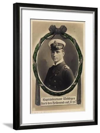 Passepartout Kapitänleutnant Weddigen, U 29, Heldentod--Framed Giclee Print