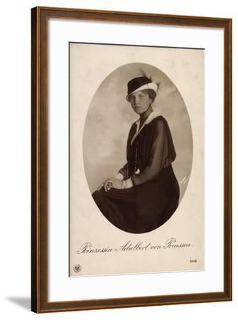 Passepartout Prinzessin Adalbert V Preußen, Npg 5418--Framed Giclee Print