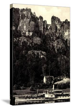 Elbsandsteingebirge, Bastei, Dampfer Karlsbad--Stretched Canvas Print