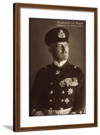 Vizeadmiral Franz Von Hipper, Erster Weltkrieg--Framed Giclee Print
