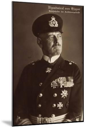 Vizeadmiral Franz Von Hipper, Erster Weltkrieg--Mounted Giclee Print