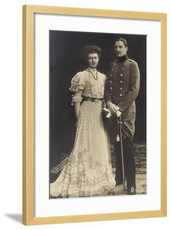 Prinz Eitel Friedrich Mit Herzogin Sophie Charlotte--Framed Giclee Print