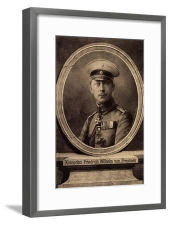 Künstler Bieber, E., Kronprinz Friedrich Wilhelm--Framed Giclee Print