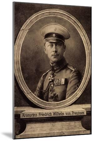Künstler Bieber, E., Kronprinz Friedrich Wilhelm--Mounted Giclee Print