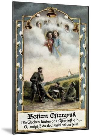 Glückwunsch Ostern, Soldaten Beim Träumen, Engel--Mounted Giclee Print
