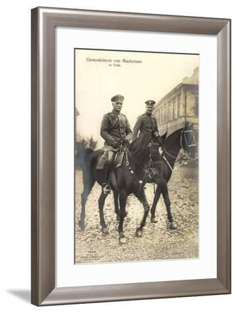 Generalfeldmarschall August Von Mackensen Im Felde, Pferde--Framed Giclee Print