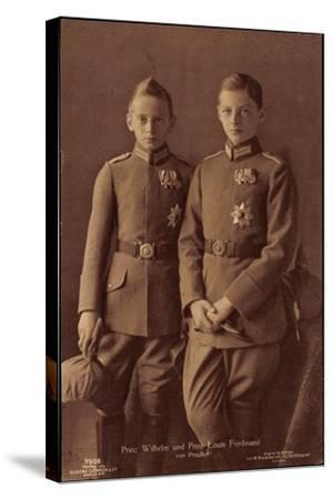 Prinz Wilhelm, Prinz Louis Ferdinand Von Preußen--Stretched Canvas Print