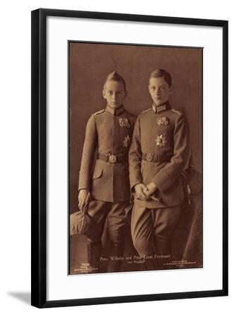 Prinz Wilhelm, Prinz Louis Ferdinand Von Preußen--Framed Giclee Print