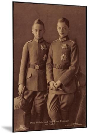 Prinz Wilhelm, Prinz Louis Ferdinand Von Preußen--Mounted Giclee Print