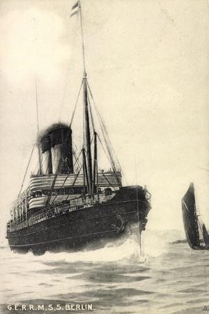 G.E.R.R.M, S.S. Berlin, Norddeutscher Lloyd Bremen--Framed Giclee Print