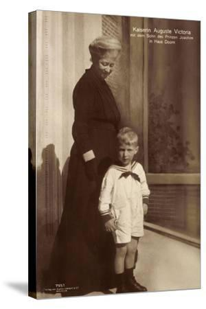 Kaiserin Auguste Viktoria, Sohn Des Prinzen Joachim--Stretched Canvas Print
