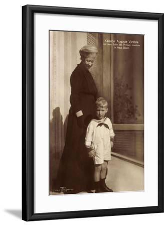 Kaiserin Auguste Viktoria, Sohn Des Prinzen Joachim--Framed Giclee Print