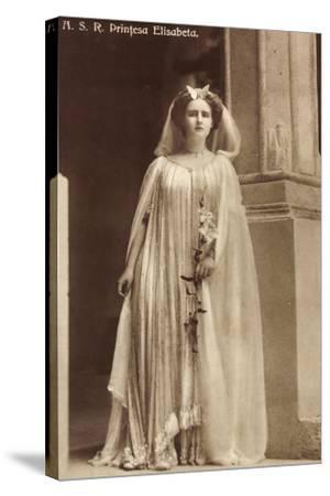 Portrait Der Prinzessin Elisabeth Von Rumänien--Stretched Canvas Print