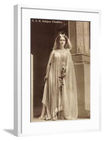 Portrait Der Prinzessin Elisabeth Von Rumänien--Framed Giclee Print