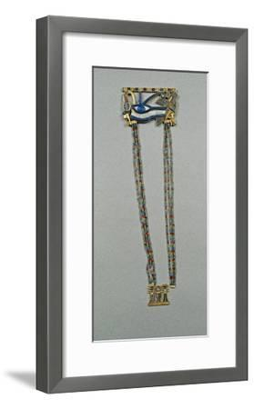 Pectoral Made of Gold, Precious Stones and Vitreous Pastes with Udjat Eye of Horus--Framed Giclee Print