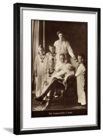 Kronprinz Friedrich Wilhelm, Cecilie,Kinder,Npg 7517--Framed Giclee Print