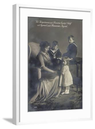 Kronprinzessin, Gustav Adolf, Sigvard, Prinz. Ingrid--Framed Giclee Print