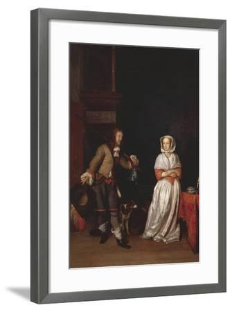 Italy, Florence, Lady and Knight--Framed Giclee Print