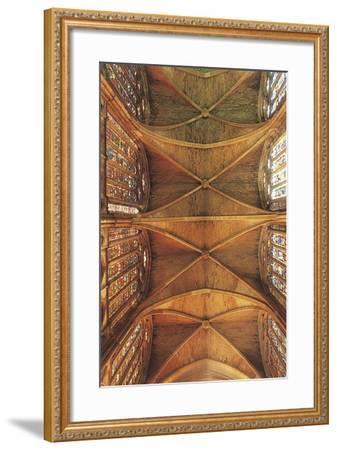 Spain, Castilla Y Leon, Leon Cathedral, Nave Ceiling--Framed Giclee Print