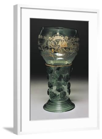 Wineglass in Glass with Insignias of Constituents of Mainz, 1661--Framed Giclee Print