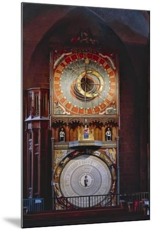 Astronomical Clock in Lund Cathedral, Sweden, Late 14th Century--Mounted Giclee Print