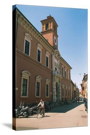 Italy - Emilia-Romagna Region-Ferrara, Library Building on Via Delle Scienze--Stretched Canvas Print