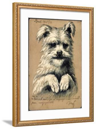 Präge Hund, Hund Auf Zwei Beinen--Framed Giclee Print