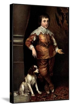 Künstler Van Dyck, Sohn Karls I. Von England, Hund--Stretched Canvas Print