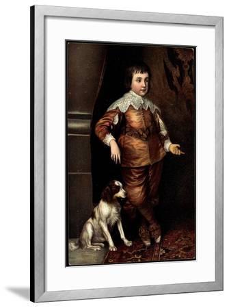 Künstler Van Dyck, Sohn Karls I. Von England, Hund--Framed Giclee Print