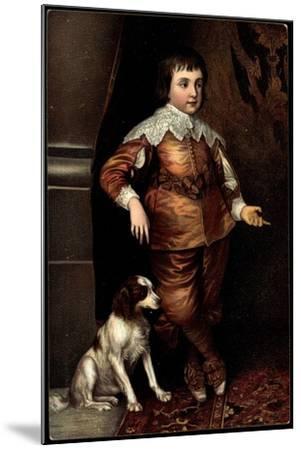 Künstler Van Dyck, Sohn Karls I. Von England, Hund--Mounted Giclee Print