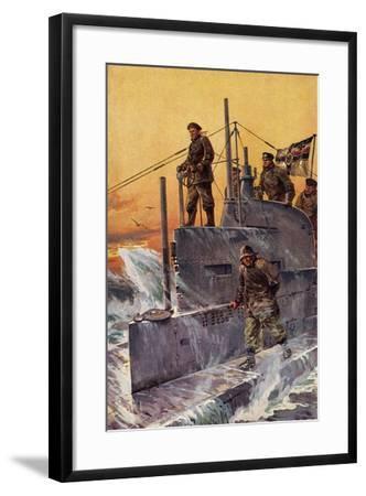 Künstler Stöwer, W., Kommandoturm, U Boot, Matrosen--Framed Giclee Print