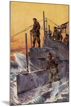 Künstler Stöwer, W., Kommandoturm, U Boot, Matrosen--Mounted Giclee Print
