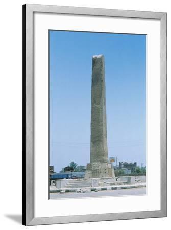 Egypt, Cairo, Heliopolis, Obelisk of Sesostris I or Senusert I--Framed Giclee Print