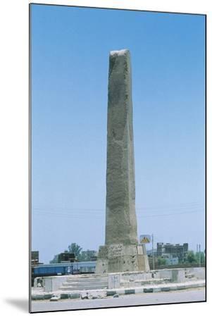 Egypt, Cairo, Heliopolis, Obelisk of Sesostris I or Senusert I--Mounted Giclee Print