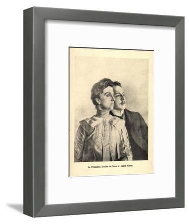Künstler Prinzessin Louise Von Sachsen, Andre Giron--Framed Giclee Print