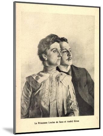 Künstler Prinzessin Louise Von Sachsen, Andre Giron--Mounted Giclee Print