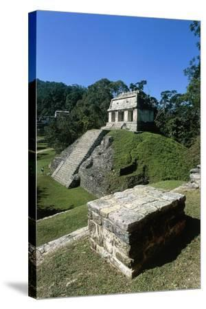 Mexico, Chiapas, Palenque, Mayan Archaeological Site, Temple of Count--Stretched Canvas Print