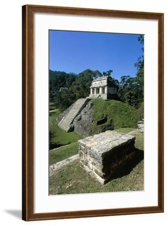 Mexico, Chiapas, Palenque, Mayan Archaeological Site, Temple of Count--Framed Giclee Print