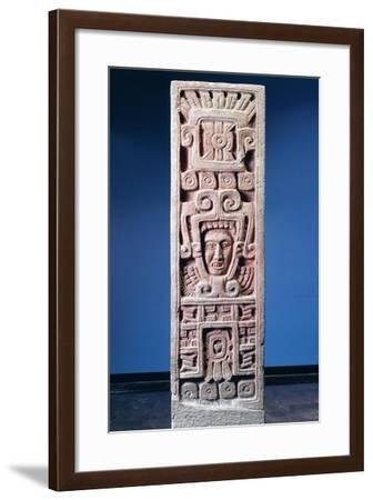 Mexico, Xochicalco, Painted Stone Stele of Birth of Quetzalcoatl--Framed Giclee Print