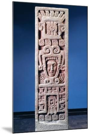 Mexico, Xochicalco, Painted Stone Stele of Birth of Quetzalcoatl--Mounted Giclee Print