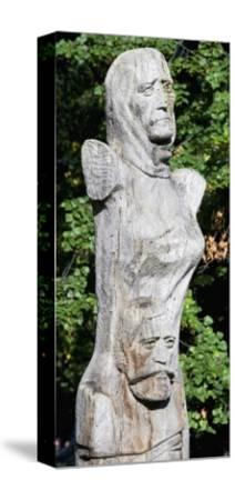Figure with Two Faces, Ethnographic Museum, Sofia, Bulgaria--Stretched Canvas Print