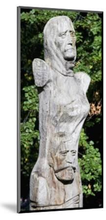 Figure with Two Faces, Ethnographic Museum, Sofia, Bulgaria--Mounted Giclee Print