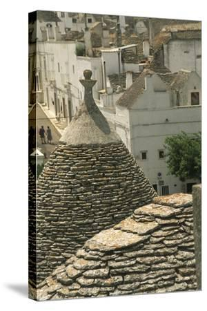 Italy, Apulia Region, Le Murge, Trulli Houses, Folk Architecture at Alberobello--Stretched Canvas Print