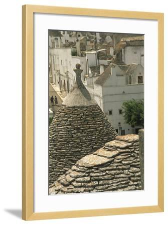 Italy, Apulia Region, Le Murge, Trulli Houses, Folk Architecture at Alberobello--Framed Giclee Print