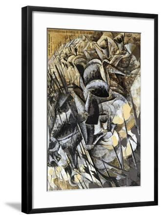 Italy, Milan, Painting the Charge of the Lancers--Framed Giclee Print