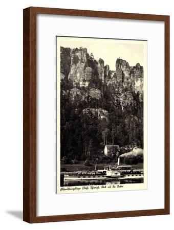 Elbsandsteingebirge, Bastei, Dampfer Karlsbad--Framed Giclee Print