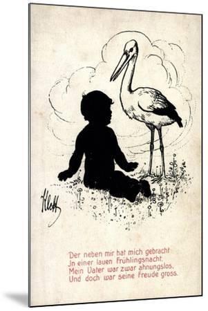 Künstler Klett, Storch Bringt Kind, Frühlingsnacht, Vater Ahnungslos--Mounted Giclee Print