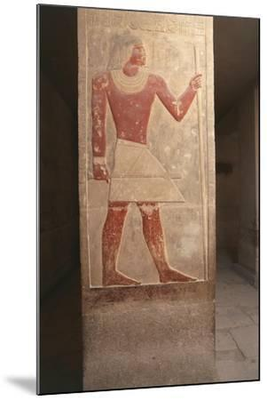Painted Relief of Dead Mereruka--Mounted Giclee Print