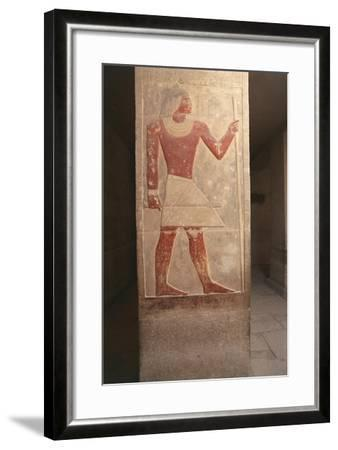 Painted Relief of Dead Mereruka--Framed Giclee Print